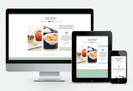 Anne Harnan responsive website design by Pick Me! Design © 2015 Sarah Godsell, Graphic Designer, Surrey