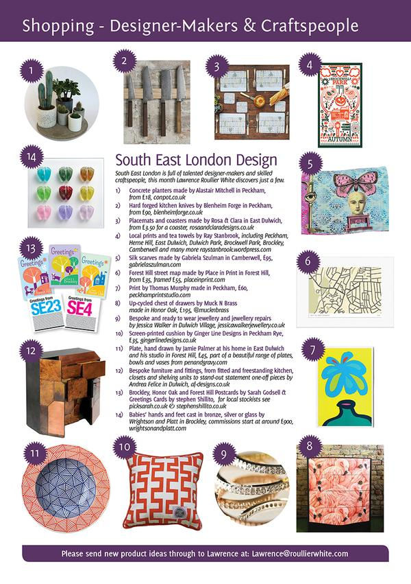 Brockley, Forest Hill & Honor Oak Postcard designed by Sarah Godsell of Pick Me! Design featured in London's 'SE' magazine.