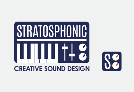 Stratosphonic Logo & avatar by Pick Me! Design © 2015 Sarah Godsell, Graphic Designer, Surrey