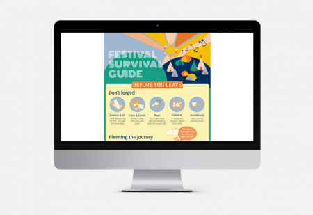 Festival Guide by Pick Me! Design © 2016 Sarah Godsell, Graphic Designer, Surrey