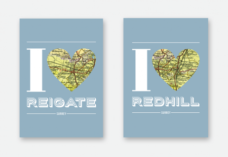I love Reigate & Redhill flyers by Pick Me! Design © 2016 Sarah Godsell, Graphic Designer, Surrey